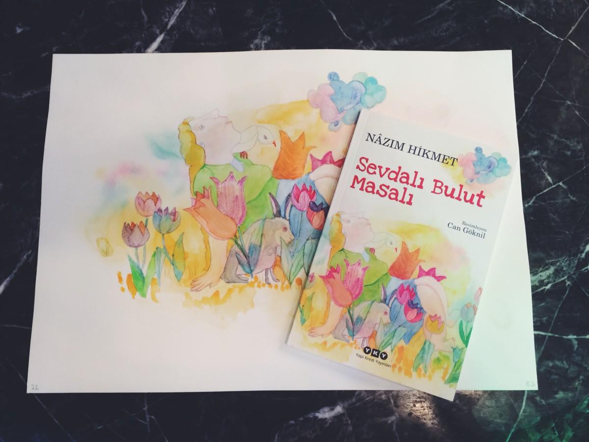 Nazım-Hikmet's-Sevdalı-Bulut-illustrated-by-Can-Göknil-2014