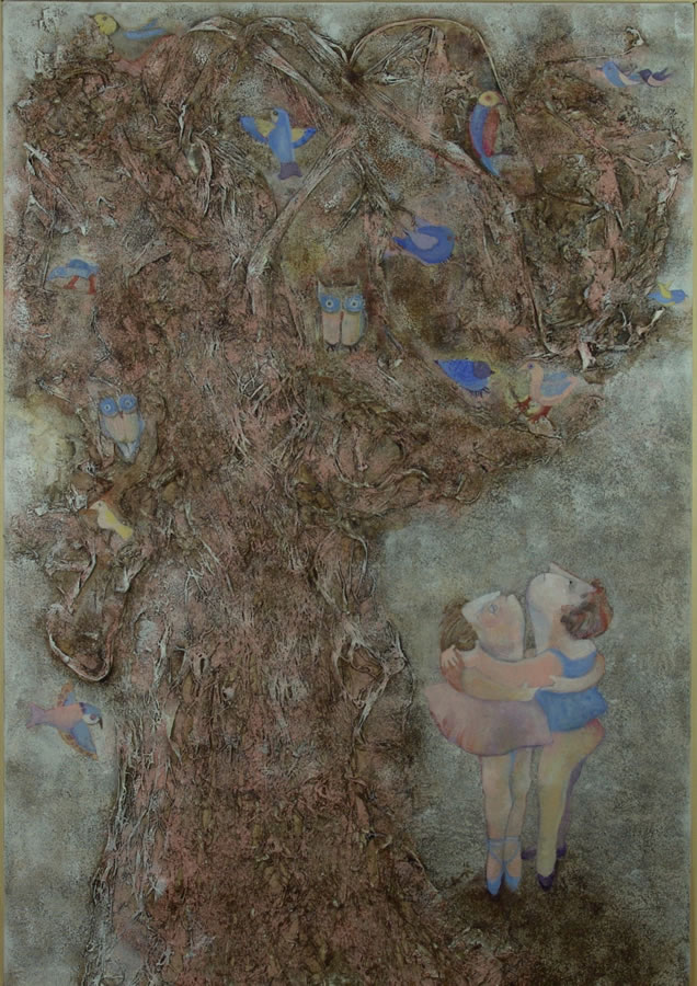 dancers under the bird tree